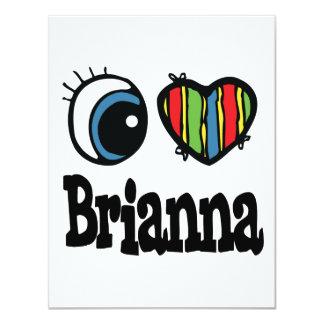 "I corazón (amor) Brianna Invitación 4.25"" X 5.5"""