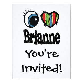"""I corazón (amor) Brianne Invitación 4.25"""" X 5.5"""""""