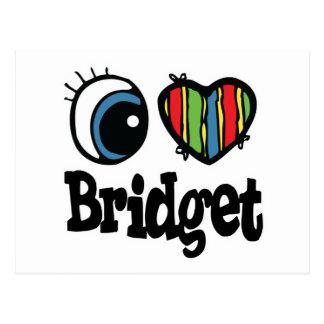 I corazón (amor) Bridget Tarjetas Postales