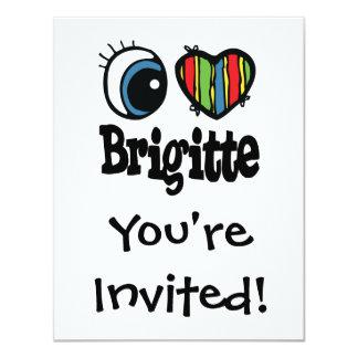 """I corazón (amor) Brigitte Invitación 4.25"""" X 5.5"""""""