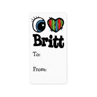 I corazón (amor) Britt Etiquetas De Dirección