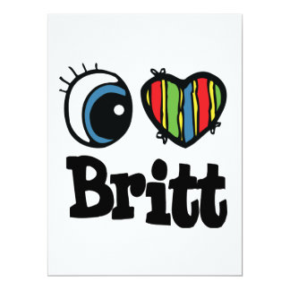 "I corazón (amor) Britt Invitación 6.5"" X 8.75"""