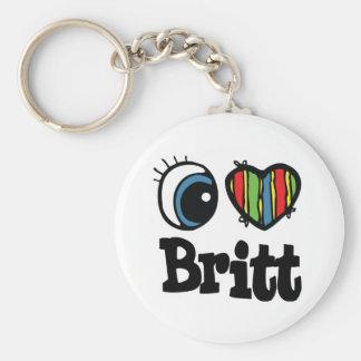 I corazón (amor) Britt Llavero Personalizado