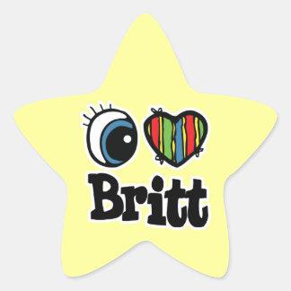 I corazón (amor) Britt Pegatina En Forma De Estrella