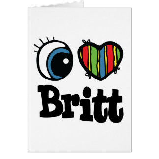 I corazón (amor) Britt Tarjeta De Felicitación