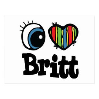 I corazón (amor) Britt Postal