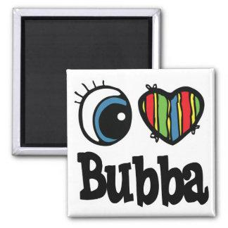I corazón (amor) Bubba Imán Cuadrado