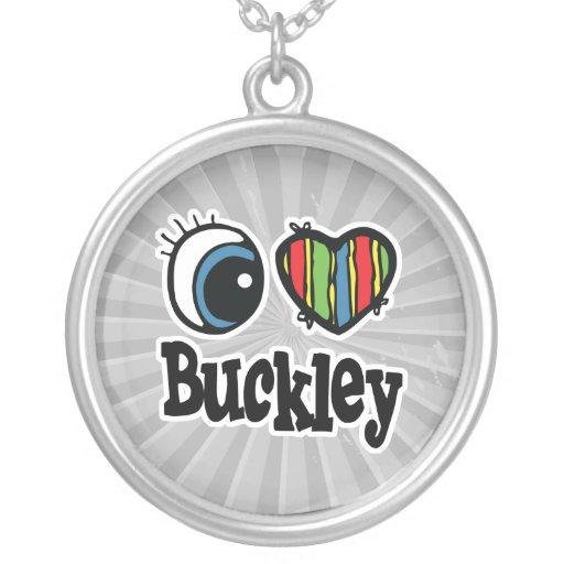 I corazón (amor) Buckley Pendientes Personalizados