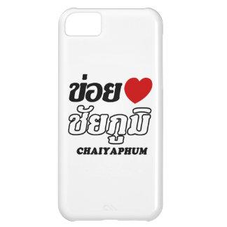 I corazón (amor) Chaiyaphum, Isan, Tailandia Funda Para iPhone 5C