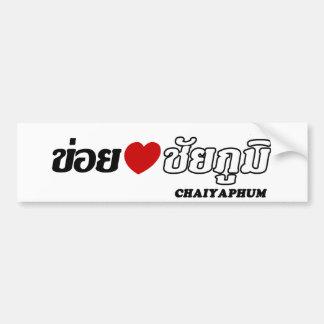 I corazón (amor) Chaiyaphum, Isan, Tailandia Pegatina Para Auto