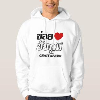 I corazón (amor) Chaiyaphum, Isan, Tailandia Sudaderas Con Capucha
