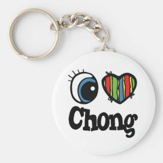 I corazón (amor) Chong Llavero Redondo Tipo Pin