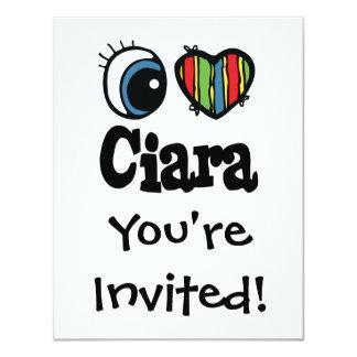 """I corazón (amor) Ciara Invitación 4.25"""" X 5.5"""""""