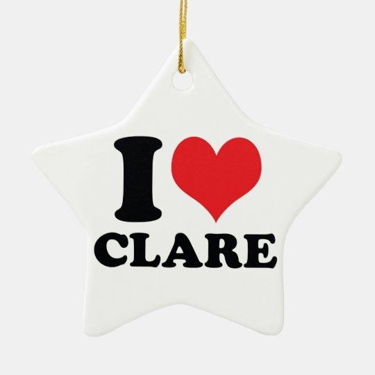 I corazón/amor Clare Adorno Navideño De Cerámica En Forma De Estrella