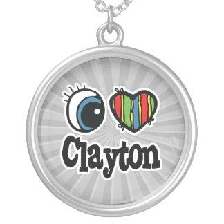 I corazón (amor) Clayton Colgante Redondo