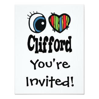 """I corazón (amor) Clifford Invitación 4.25"""" X 5.5"""""""