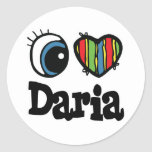 I corazón (amor) Daria Pegatina Redonda