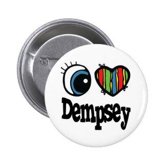 I corazón (amor) Dempsey Pin Redondo De 2 Pulgadas