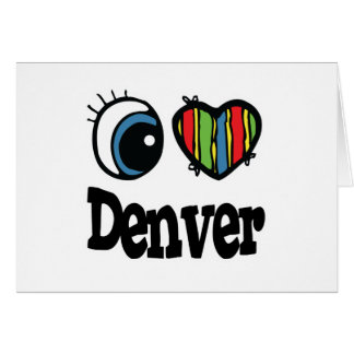 I corazón (amor) Denver Tarjeta De Felicitación