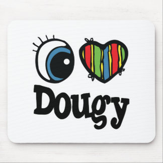 I corazón (amor) Dougy Alfombrillas De Ratones