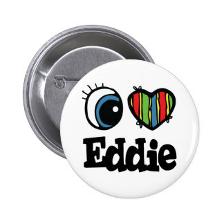 I corazón (amor) Eddie Pin Redondo De 2 Pulgadas