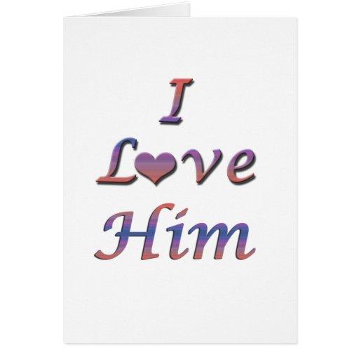 I corazón (amor) él tarjeta