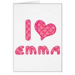 I corazón/amor Emma Tarjetón