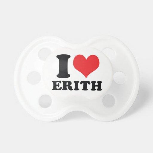 I corazón/amor Erith Chupetes Para Bebés