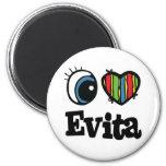 I corazón (amor) Evita Imán Redondo 5 Cm