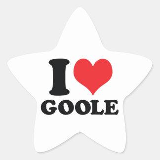 I corazón/amor Goole Pegatina En Forma De Estrella