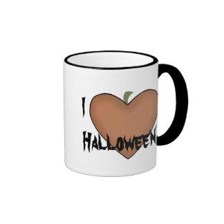 I corazón (amor) Halloween Tazas De Café