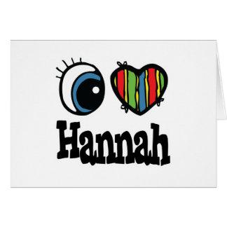 I corazón amor Hannah Felicitaciones