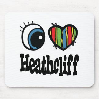 I corazón (amor) Heathcliff Tapete De Raton