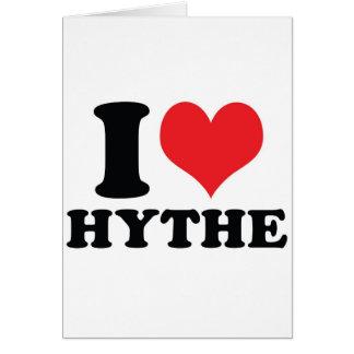 I corazón/amor Hythe Tarjetón