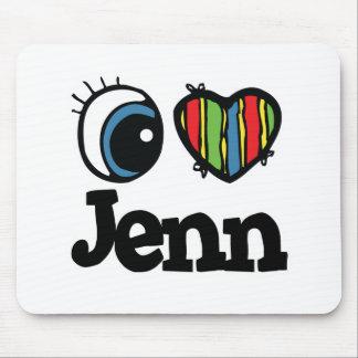 I corazón (amor) Jenn Mouse Pad