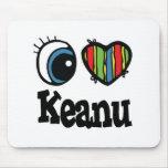 I corazón (amor) Keanu Alfombrilla De Ratones