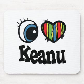 I corazón (amor) Keanu Alfombrillas De Ratones