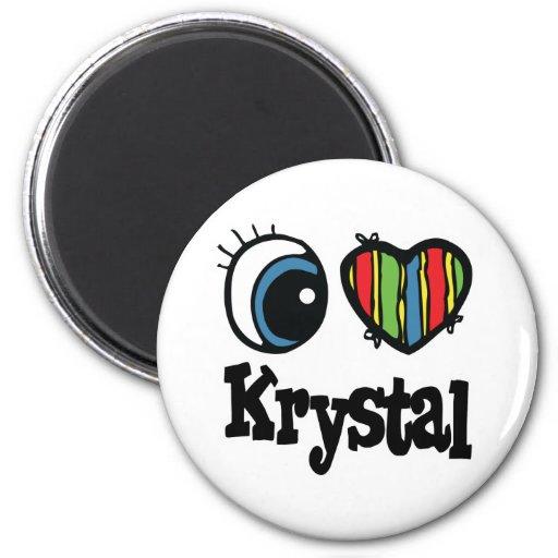 I corazón (amor) Krystal Imanes De Nevera