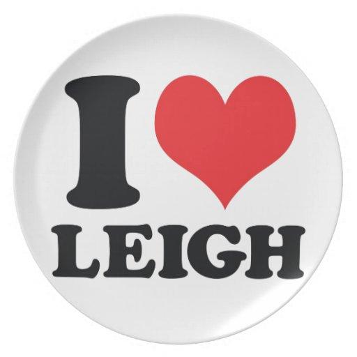 I corazón/amor Leigh Plato Para Fiesta