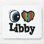I corazón (amor) Libby Tapetes De Ratones