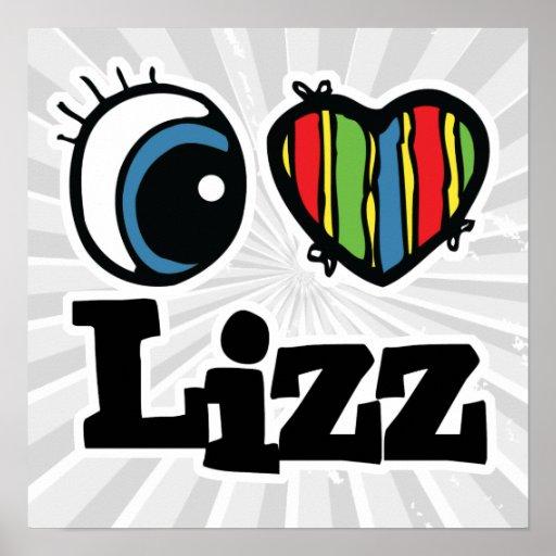 I corazón (amor) Lizz Posters