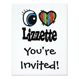 "I corazón (amor) Lizzette Invitación 4.25"" X 5.5"""