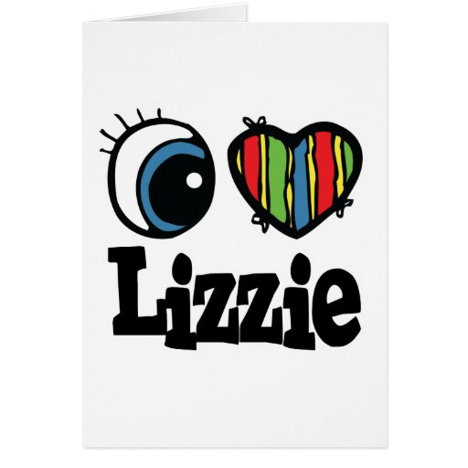 I corazón (amor) Lizzie Tarjeta
