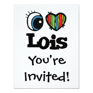 "I corazón (amor) Lois Invitación 4.25"" X 5.5"""