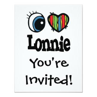 """I corazón (amor) Lonnie Invitación 4.25"""" X 5.5"""""""