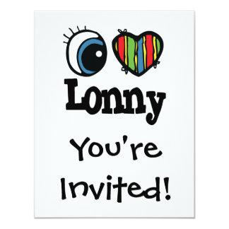 """I corazón (amor) Lonny Invitación 4.25"""" X 5.5"""""""