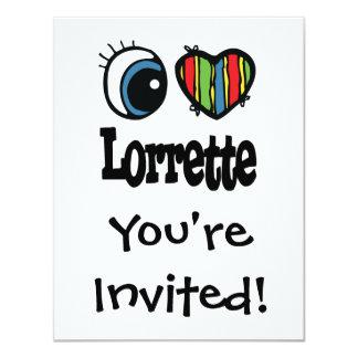 """I corazón (amor) Lorrette Invitación 4.25"""" X 5.5"""""""