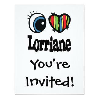 """I corazón (amor) Lorriane Invitación 4.25"""" X 5.5"""""""