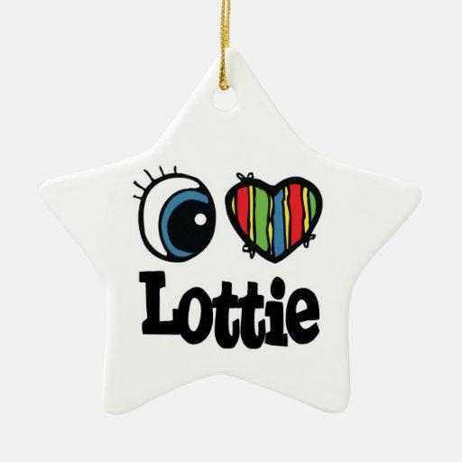 I corazón (amor) Lottie Ornamentos De Navidad