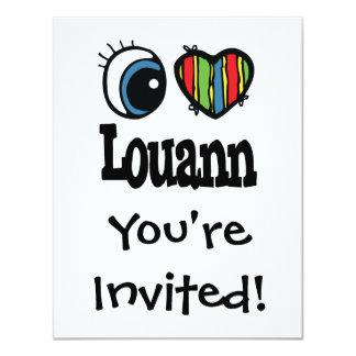 """I corazón (amor) Louann Invitación 4.25"""" X 5.5"""""""